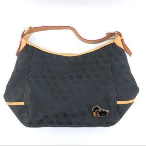 Dooney & Bourke Logo Bag Black Canvas Leather